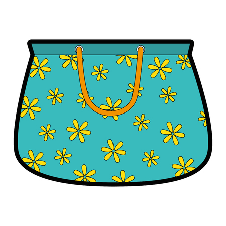 handbag female with flowers vector illustration design Ilustração