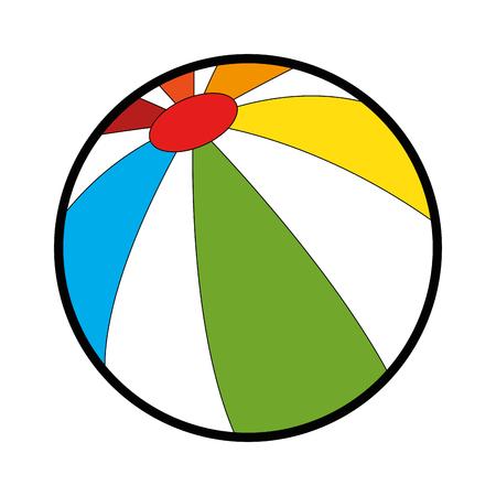 plastic balloon beach icon vector illustration design Illustration