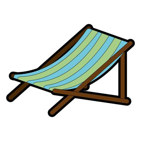 beach chair isolated icon vector illustration design Stock Vector - 93727665