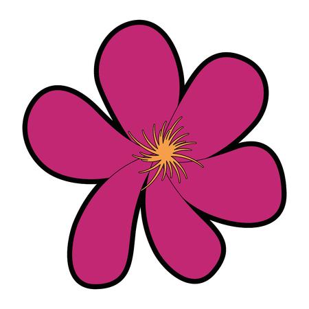 cute flower decorative icons vector illustration design