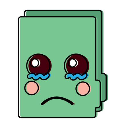 sad file folder icon image vector illustration design