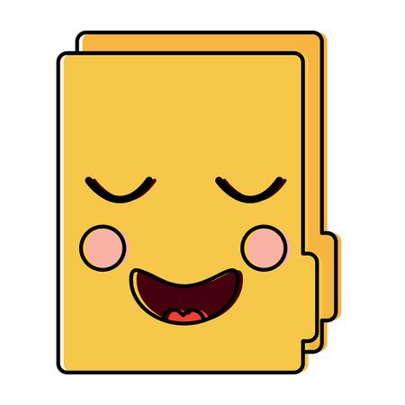 happy file folder  icon image vector illustration design 向量圖像