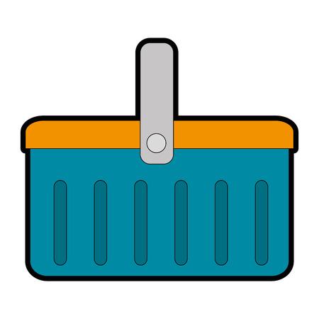 plastic basket picnic icon vector illustration design 矢量图像
