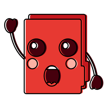 suprised file folder icon image vector illustration design Stock Vector - 93727630