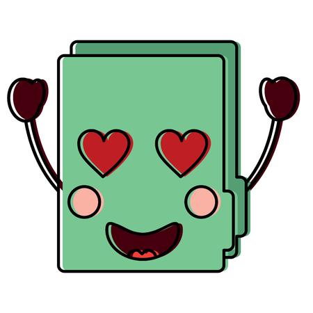 file folder heart eyes icon image vector illustration design Illustration