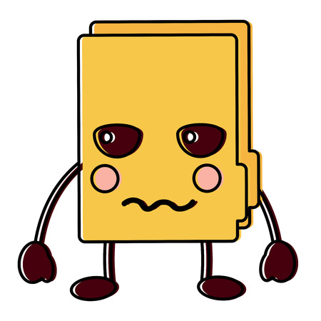 angry file folder icon image vector illustration design Illusztráció
