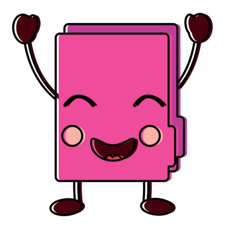 happy file folder icon image vector illustration design