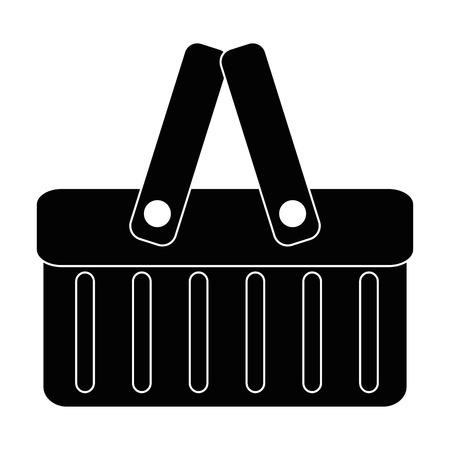 plastic mand picknick pictogram vector illustratie ontwerp Stock Illustratie