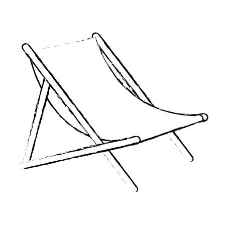 Strandstoel geïsoleerd pictogram vector illustratieontwerp Stockfoto - 93727473