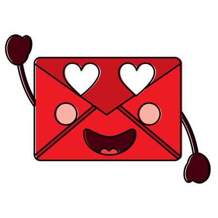 message envelope heart eyes  icon image vector illustration design 版權商用圖片 - 93727391