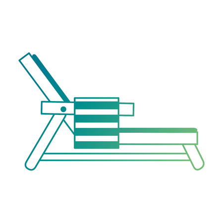 タオルベクトルイラストデザインのビーチチェア  イラスト・ベクター素材