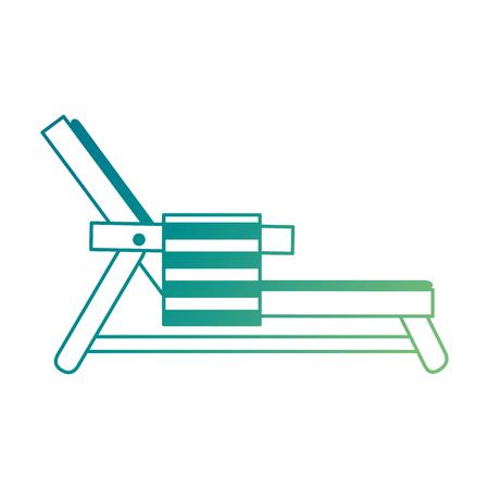 Ligstoel met ontwerp van de handdoek het vectorillustratie