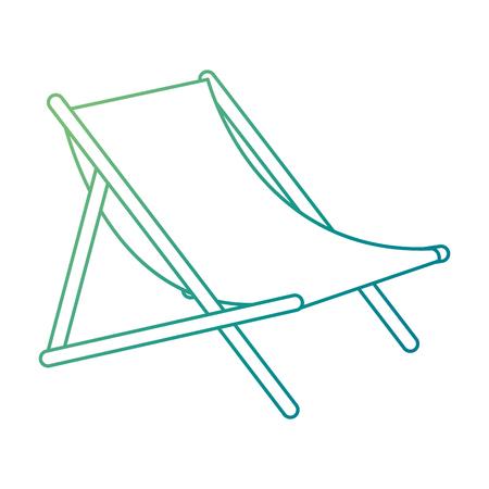 Beach chair isolated icon vector illustration design Ilustração