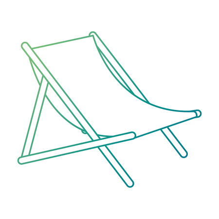 Beach chair isolated icon vector illustration design Illustration