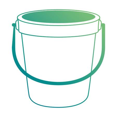 zand emmer strand pictogram vector illustratie ontwerp