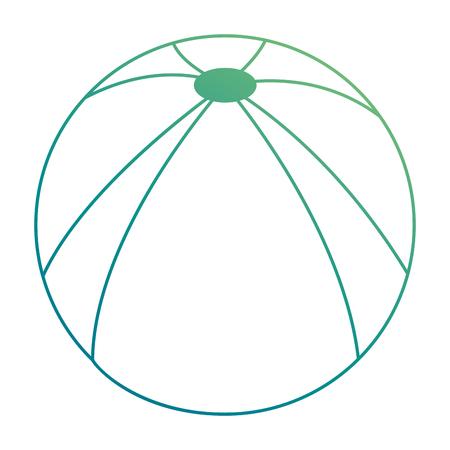 Plastikballonstrandikonenvektor-Illustrationsdesign Standard-Bild - 93727405