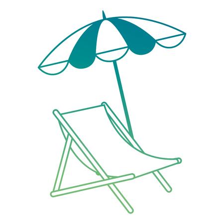 Ligstoel met ontwerp van de paraplu het vectorillustratie Stockfoto - 93724237