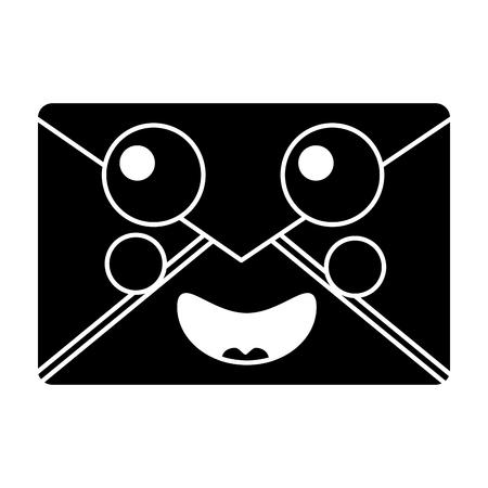 happy message envelope icon image vector illustration design