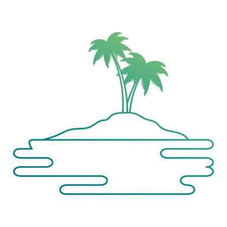strand landschap scène met zee vector illustratie ontwerp Stock Illustratie