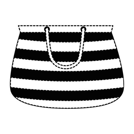 handbag female beach icon vector illustration design Illustration
