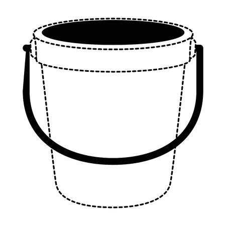 sand bucket beach icon vector illustration design