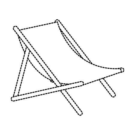 ビーチチェア分離アイコンベクトルイラストデザイン