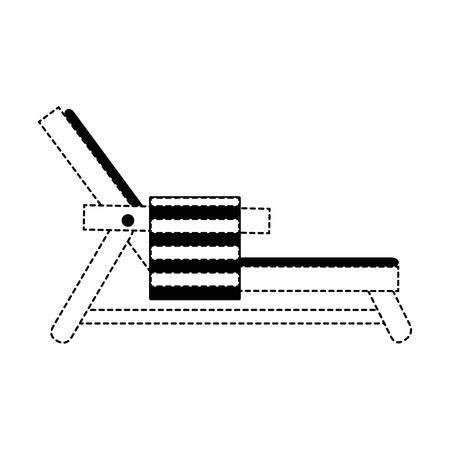 beach chair with towel vector illustration design Illustration
