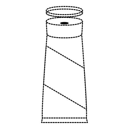 fles product crème pictogram vector illustratie ontwerp Stock Illustratie
