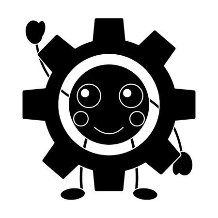 happy gear icon image vector illustration design Vectores