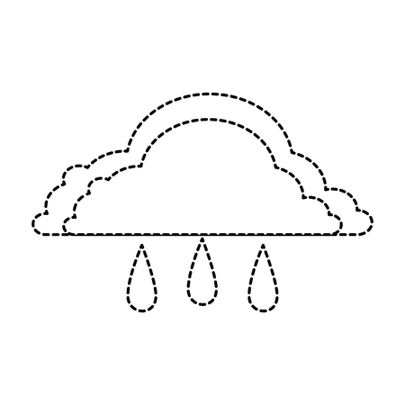weather cloud rainy icon vector illustration design Stock Vector - 93726512