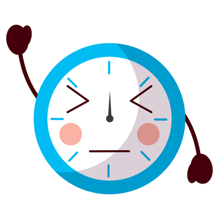 angry clock icon image vector illustration design