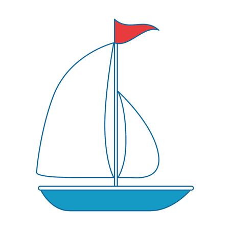 ヨット夏孤立アイコンベクトルイラストデザイン