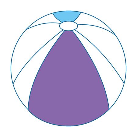 Plastikballonstrandikonenvektor-Illustrationsdesign Standard-Bild - 93726452