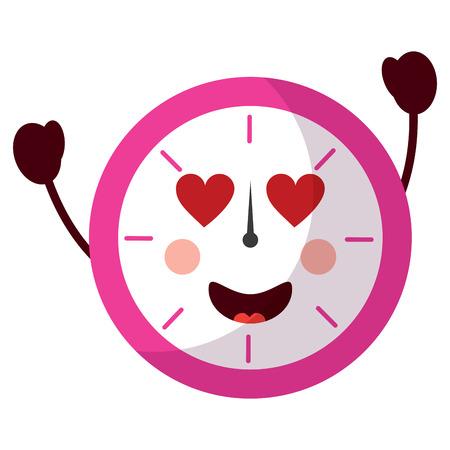clock heart eyes icon image vector illustration design Ilustrace