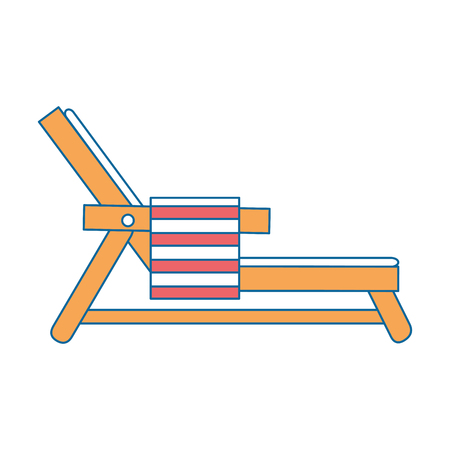 beach chair with towel vector illustration design Stock Vector - 93724322
