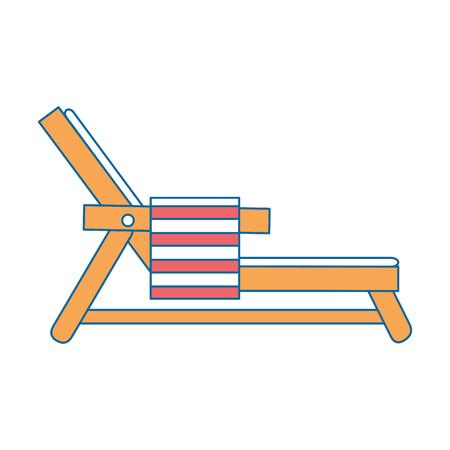 Strandstoel met handdoek vector illustratie ontwerp Stockfoto - 93724322