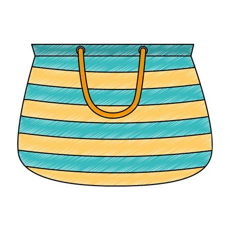 handbag female beach icon vector illustration design Ilustração