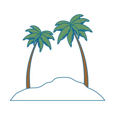 Strand landschap scène pictogram vector illustratie ontwerp Stockfoto - 93725093