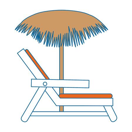 Strandstoel met paraplu vectorillustratie ontwerp Stockfoto - 93734917
