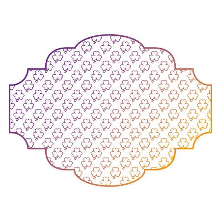 label decoration pattern clover st patrick day vector illustration blur line image