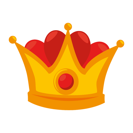king crown isolated icon vector illustration design Stock Vector - 93725439