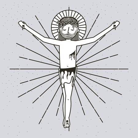 sketch sf the ascension of jesus christ vector illustration
