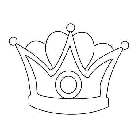 왕관 왕관 아이콘 벡터 일러스트 디자인 격리