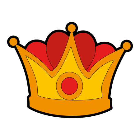 king crown isolated icon vector illustration design