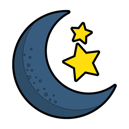 moon with stars icon vector illustration design Vectores