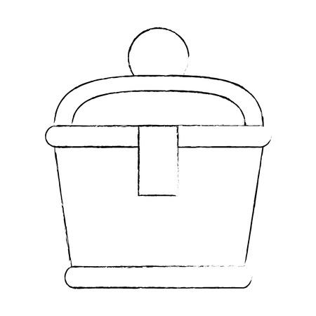 Gold Container isoliert Symbol Vektor-Illustration , Design , Vektorgrafik