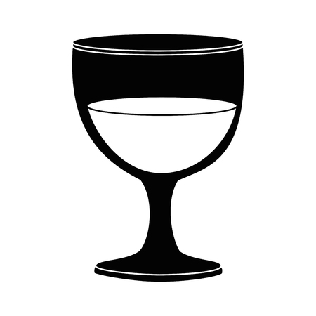 chalice glass isolated icon vector illustration design