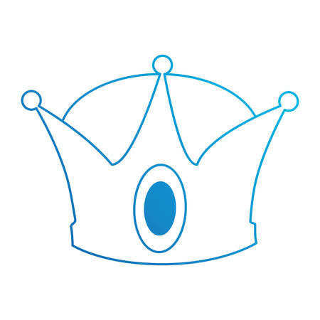 king crown isolated icon vector illustration design Stock fotó - 93735928