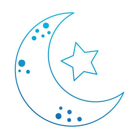 moon with stars icon vector illustration design  イラスト・ベクター素材