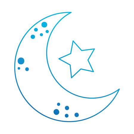 moon with stars icon vector illustration design Illustration